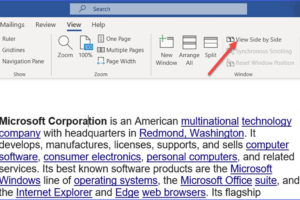 How to Compare Word Document Side by Side