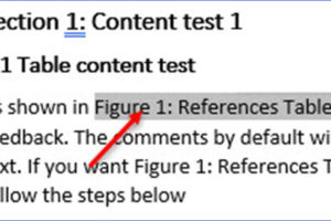 How to Add a Cross Reference in Word
