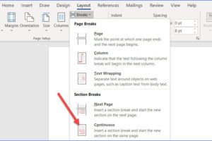 How to Change Orientation for One Page in Word