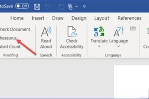 How to Find a Synonym or Antonym in Word