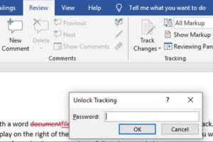 How to Lock or Unlock Track Changes in Word