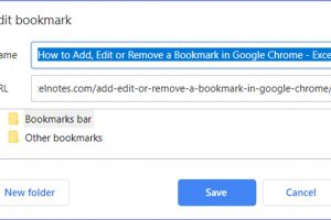 How to Add, Edit or Remove a Bookmark in Google Chrome