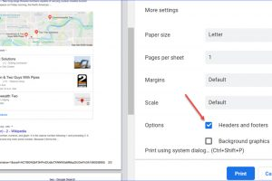 How to Add or Remove Headers Footers When Printing Google Search Pages