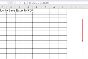 How to Save Excel to PDF