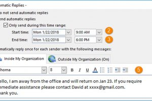 How to Set Up Out of Office Auto-Reply in Outlook