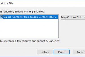 How to Export Outlook Contacts to a CSV File