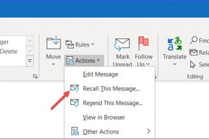 How to Recall and Delete Email just Sent in Outlook