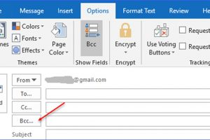 How to Show or Hide Bcc Field in Outlook