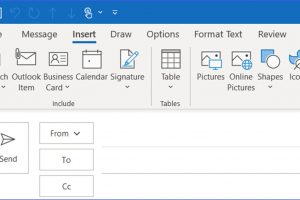 How to Change Recent Items List in the Attached File in Outlook