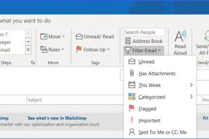 How to Show Only Unread Messages in Outlook