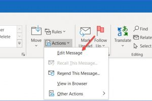 How to Make Changes to Received Message in Outlook