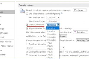 How to Change Reminders Time in Outlook Calendar