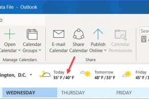 How to Switch Temperature between Fahrenheit and Celsius in Outlook Calendar