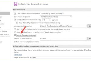 How to Change Auto Saving Frequency in Word