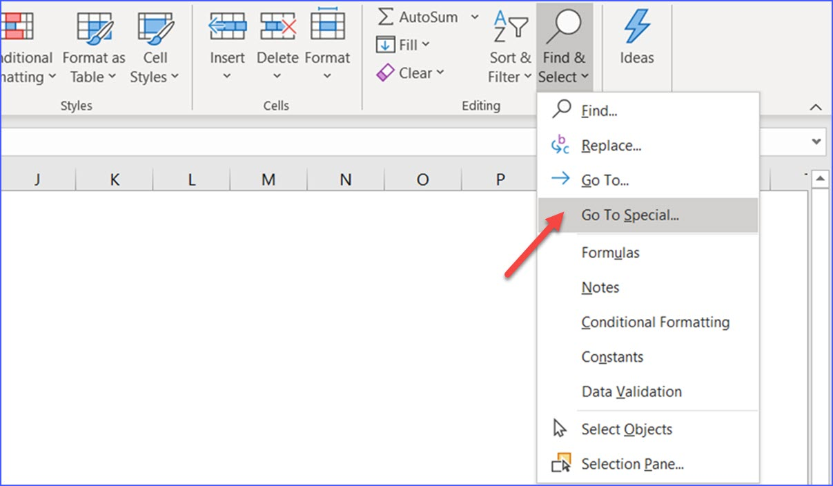 How to Select Blank Cells   ExcelNotes