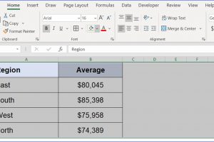 How to Format Two Tables Exactly the Same in Excel