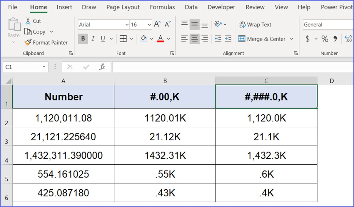 How to Format Thousand into K or Word Thousand by Formula   ExcelNotes