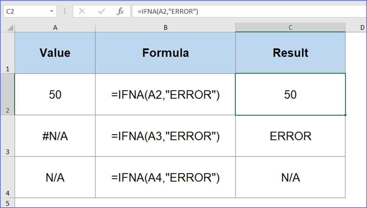 How to Use IFNA Function   ExcelNotes