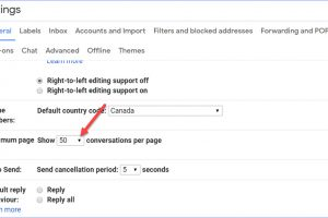 How to Change the Number of Emails per Page in Gmail