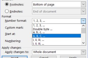 How to Change the Footnotes Numbering in Word