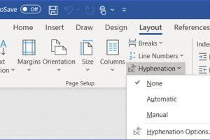 How to Add Auto Hyphenation in Word