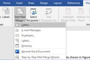 How to Set up Mailing Merge in Word