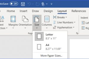 How to Change the Page Size in Word