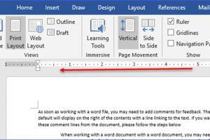 How to Display or Hide the Ruler in Word