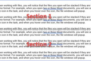 How to Split the File into Two Sections in Word
