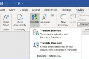How to Translate Words or Paragraphs in Word