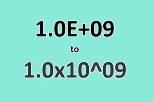 How to Convert Scientific Notation to x10 Format in Excel