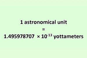 Convert Astronomical Unit to Yottameter