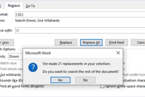 How to Remove Extra Spaces in a Word File